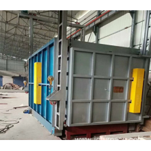 Aluminum quenching car type furnace